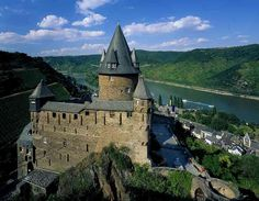 Bacharach, Germany- Berg Stahleck Castle- Rob and I stayed here on the Rhein. Eating pretzels and drinking beer. Ah