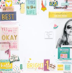 Bright Sunshiny Day & Design Team Layouts for iNSD | Paige Taylor Evans