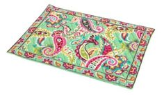 VERA BRADLEY Tutti Frutti Placements (Set of 4) $34.99 SHIPPED FREE~~~ALSO FREE LOCAL DELIVERY NOW AVAILABLE WITHIN 10 MILES OF SANTA MONICA, CALIFORNIA ZIP CODE 90404~~~