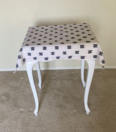 Kufri Rex in natural Table Cloth/ Designer Side Table Cover/Mother's Day Gift