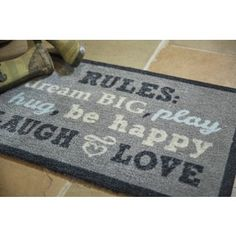 Shop for Muddle Mat 'Family Rules' Nylon Accent Rug (1'8 x 2'6). Free Shipping on orders over $45 at Overstock.com - Your Online Home Decor Outlet Store! Get 5% in rewards with Club O! - 20462460