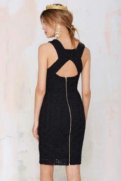 Peep Frill Lace Dress