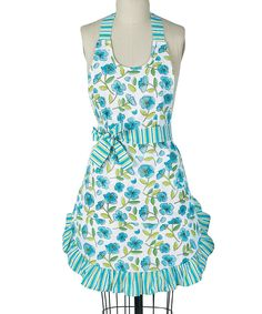 Kay Dee Designs Blue Floral Apron