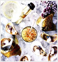 coco & kelly - Champagne and oysters make a natural pairing for a luxe spread of hors d'oeuvres – for a more cost-effective yet equally-festive option, try my recipes for Ginger-Spiced Cider and the Perfect Cheese Plate.