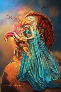 PerlaMarina - Fashion - Photography - Medieval - Gown - Dragon - Khaleesi - Daenerys Targaryen - Game Of Thrones - Fantasy - Magic - Legend - Myth Fantasy Dragon, Dragon Art, Fantasy Art, Fire Dragon, Fantasy Creatures, Mythical Creatures, Spirit Halloween Costumes, Halloween Halloween, Daenerys Targaryen Cosplay
