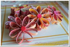 Decorating With Scrapbook Paper | Then I strung them together using a piece of twine and hung the ...