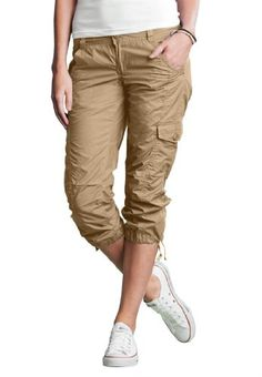Plus size brown capri pants
