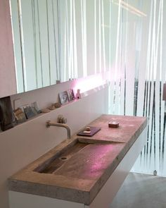 Concrete countertop bathroom