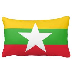 Burmese (Myanma) flag pillow