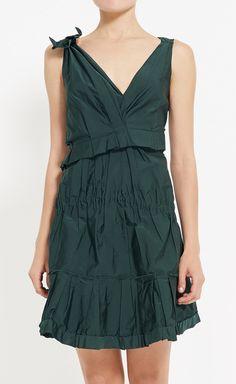 Nina Ricci Dark Green Dress