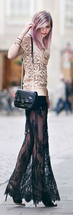 Blush And Black Boho Chic Style