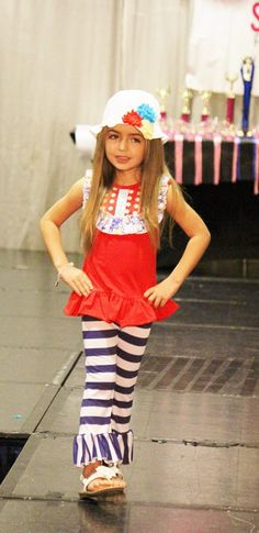 Elise showcasing the Little Miss Independent at the Little Miss Sunshine Pageant in Miami, FL. $74.00 http://www.stylishbabeboutique.com/little-miss-independent #littlegirlsclothingboutique #stylishbabeboutique #pageantoutfits #pageantwear #littlegirlsboutiqueclothing