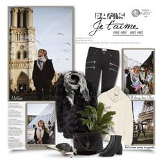 """""""Paris, Je T'Aime"""" by thewondersoffashion ❤ liked on Polyvore featuring Aime, Oui, Paige Denim, Theory, Topshop, Nearly Natural, H&M, Yves Saint Laurent, Gianvito Rossi and women's clothing"""