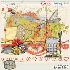 Spring Fling Ellies No. 3: by Wendy Tunison Designs