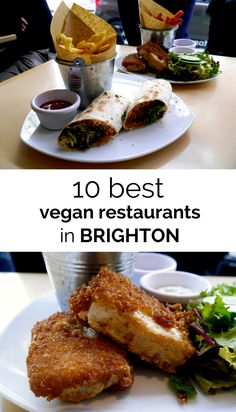 Ask anyone in the UK what comes to mind when they think of trips to the seaside and they'll mention cold waters, arcade amusements, and fish 'n' chips; a meal so simple yet so well loved that tourists regularly make the meal one of the 'musts' on trips to Brighton Restaurants, Vegan Fish And Chips, Best Vegan Restaurants, Finding Vegan, Vegan Vegetarian, Eating Vegan, Vegan Food, Street Food, The Best