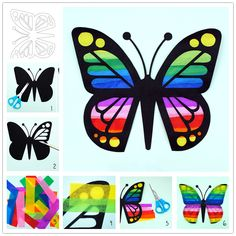 How to Make Paper Colorful Butterflies - Cool Creativity