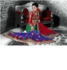 Designer Wedding Bridal Lehenga - Make your Wedding more special with this stunning Pure Dupion and net designer wedding bridal lehenga beautified with Hand work and patch work