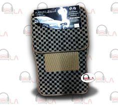 Sourcing-LA: BDK 4Pcs Floor Matts Checkered Style Print ( Black...