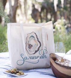 """The Savannah Bag Company """"Oyster"""" Tote #savannahbagcompany #tote #totebag #shoplocal #etsyseller #savannah #savannahga #oyster #oystertote #oysterbag #savannahgifts"""