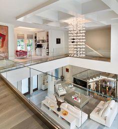 Modern Home Design 94667 Exquisite modern coastal home in Florida with luminous interiors Dream Home Design, Modern House Design, Home Interior Design, Interior Architecture, Modern Mansion Interior, Architecture Plan, Coastal Living Rooms, Coastal Homes, Coastal Farmhouse