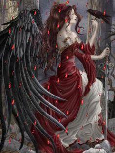 Nene Thomas Andrews + Blaine Ltd Memento - Pc Puzzle Dark Angel Fantasy Gothic Angel, Gothic Art, Fantasy World, Fantasy Art, Illustration Fantasy, Irish Mythology, Ange Demon, Angels And Demons, Dark Angels