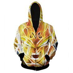 Dragon Ball Z - Super Saiyan Majin Vegeta 3D Zip Up Hoodie