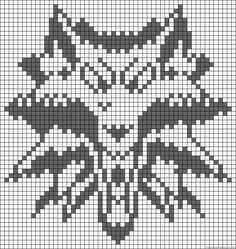 The Witcher Logo Game Perler Bead Pattern