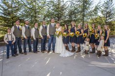 Venue: Jackson Rancheria Casino Resort Flowers: Wildflowers at Jackson Rancheria  Rustic Burlap and Lace Country Wedding Navy Blue and Sunflowers