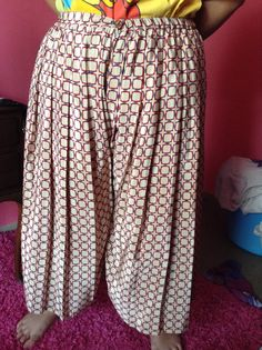 was a skirt,made n2 culottes ,vintage pattern