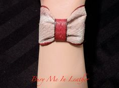 Zombie Flesh Bow Wrist Cuffs with Heart Button by BuryMeInLeather Heart Button, Cuffs, Two Piece Skirt Set, Bows, Buttons, Trending Outfits, Unique Jewelry, Handmade Gifts, Etsy