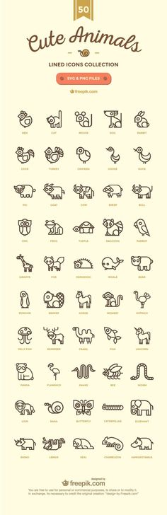 50-Cute Animals-02. Easy conversion to 8 bit cross stitch.