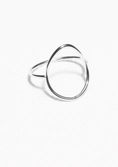 Other Stories Thin Droplet Ring in Silver