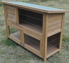 New 2 Tier Rabbit Hutch Guinea Pig Ferret House Hut With Run Double Decker 688