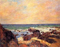 Paul Gauguin - Rocks and sea, 1886