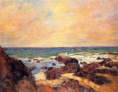 Paul Gauguin - Rocks and sea, 1886