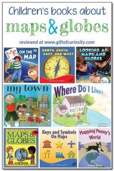 Books about maps and globes for kids: review and description of 8 books about maps and gloves for kids. These  books would go great with some basic #geography lessons for kids! || Gift of Curiosity