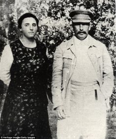 Stalin and his second wife, Nadezhda Alliluyeva, had two children. Nadezhda was found dead in bed in 1932 with a revolver next to her. Her cause of death was officially recorded as appendicitis