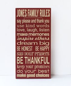 Personalized Subway Art Family Rules Wooden Sign by vinylcrafts, $55.00