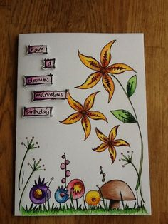 Birthday card using Jofy stamps
