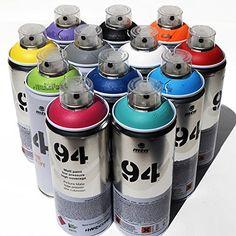 Montana MTN 94 Spray Paint 400ml Popular Colors Set of 12 Graffiti Street Art Mural Aerosol Paint Main Set 1 MTN 94