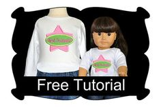 How to hoop and embroidery doll shirts tutorial