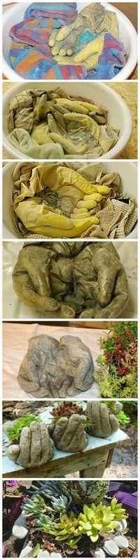 casa de fifia blog de decoração : vaso de planta a forma de mão, com tutorial