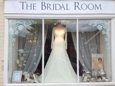 Our window this week. Love this dress | The Bridal Room Atherstone | www.TheBridalRoomAtherstone.co.uk | info@TheBridalRoomAtherstone. co.uk | 01827 767 080