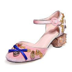 Shop Sandals - Black Dress Chunky Heel Buckle Sandal online. Discover unique designers fashion at StyleWe.com.