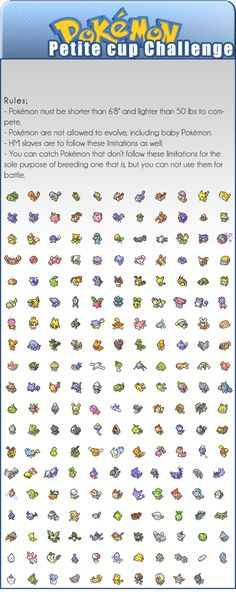 Petite Cup Challenge- I think I might try this for the sheer cuteness ^_^ Pokemon Party, Cool Pokemon, Pokemon Go, Pokemon Stuff, Pikachu, Pokemon Comics, Pokemon Challenge, The Last Story, Learning