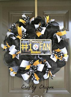Pittsburgh Steelers Wreath Steelers NFL by CraftyChique06 on Etsy