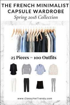 French Minimalist Capsule Wardrobe Spring 2018 eBook Cover