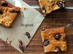 The Best Coconut Flour Chocolate Chunk Bars