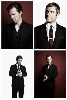 Wooooow I love Britain! Martin Freeman and Benedict Cumberbatch super fine