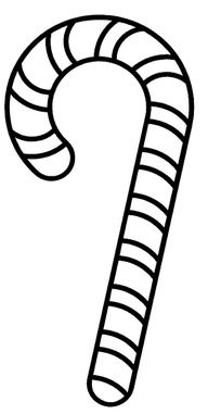 Free Christmas Coloring Page - Candy Cane